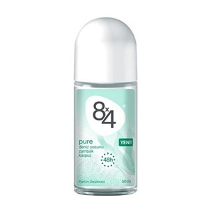 8X4 Pure Deodorant Roll-On Kadın 50 ml