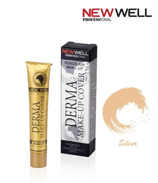 New Well Profesyonel Derma Make-Up Cover Silver 03