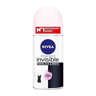 Nivea İnvisible Black & White Clear Roll-On Kadın 50 ml