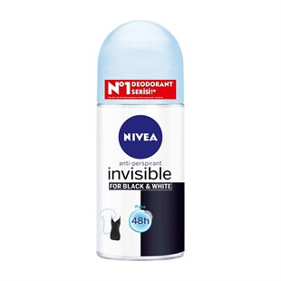 Nivea İnvisible Black & White Pure Deodorant Roll-On Kadın 50 ml