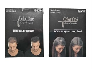 Color One Dolgunlaştırıcı Saç Fiberi - Hair Powder Dark Brown 25 g + 100 ml