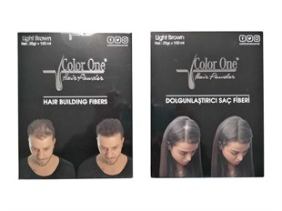Color One Hair Hair Powder Light Brown Dolgunlaştırıcı Saç Fiberi 25 g + 100 ml