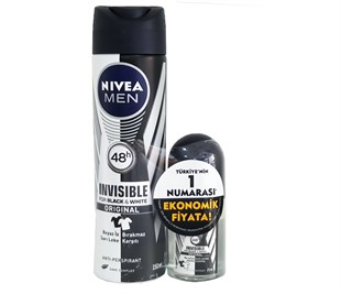 Nivea İnvisible Black&White Original Deo+Rollon 25 Ml Rollon Hd.